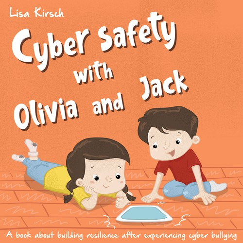 Children's book cover concept about cyber safety