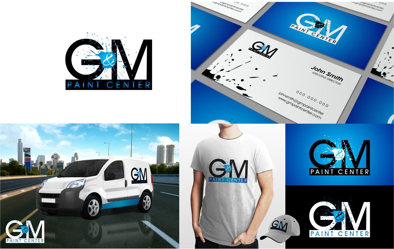 """New logo wanted for G & M Paint Center (""""center"""" is optional)"""