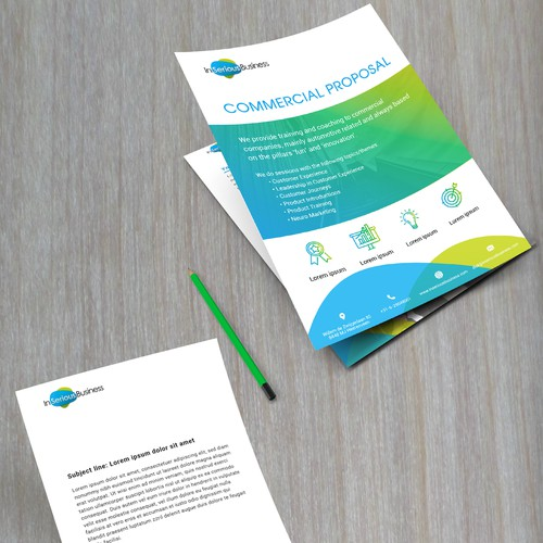 Commertial proposal template and letterhead based on existing logo