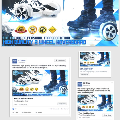 Facebook ad for a hoverboard e-shop