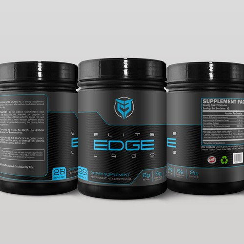 Logo and label design for supplement companies