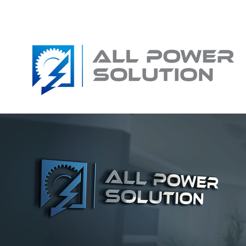 Bold logo for power generators company