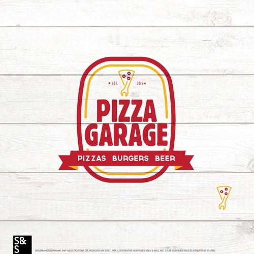 Pizza/Garage Logo concept