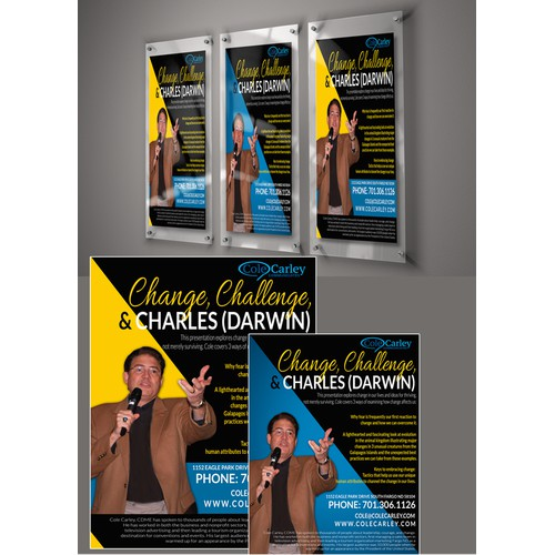 Create a marketing one-sheet for a professional speaker.  The topic of the presentation is Change.
