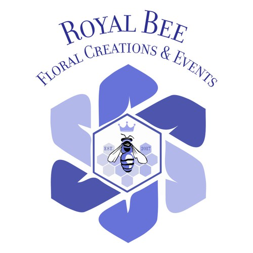 Company Logo for Royal Bee Floral Creations & Events