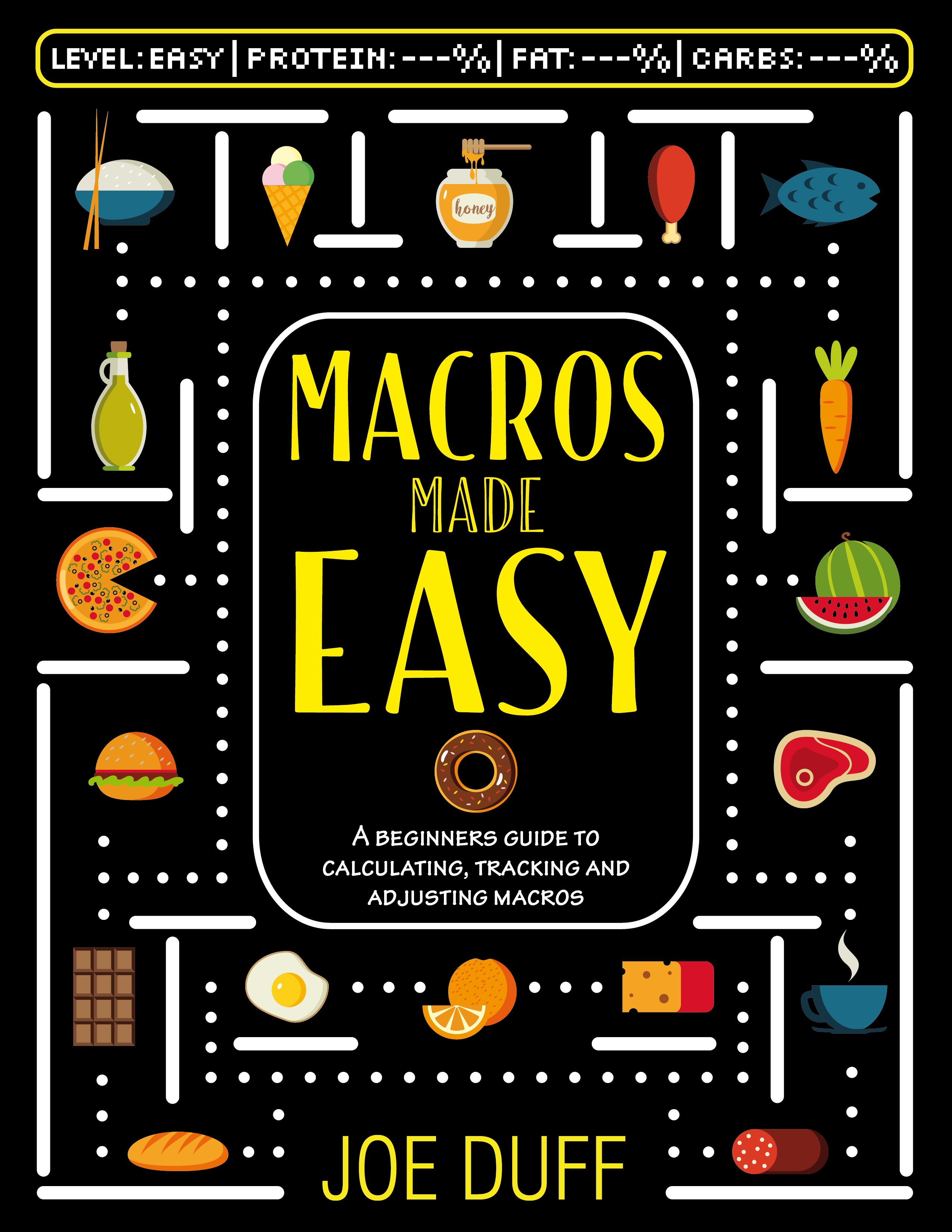 Design a fresh hipster-ish e-book cover for Macros Made Easy (A book on dieting)