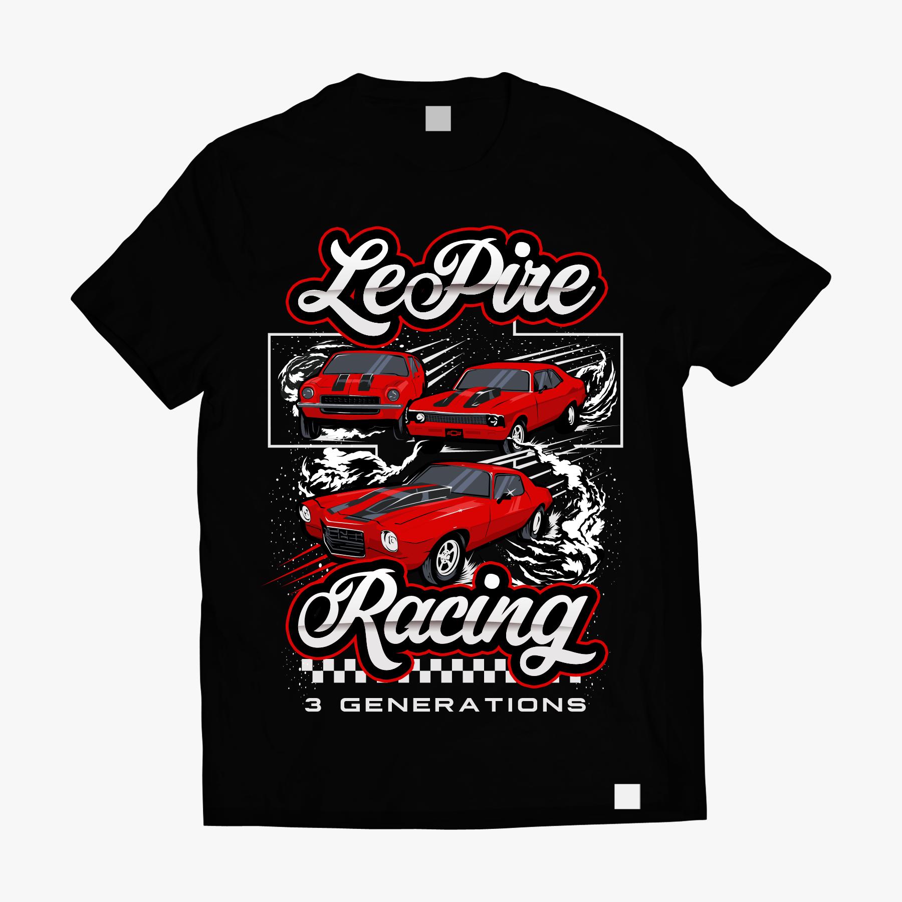 Drag Racing Team Tshirt Design