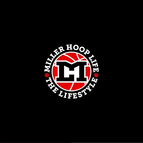 Logo concept for basketball training program for under priviliege youth that's call Miller Hoop Life.