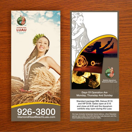 Create the brochure for Hawaii's newest amd hottest Luau
