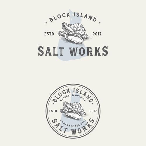 Logo concept for salt company