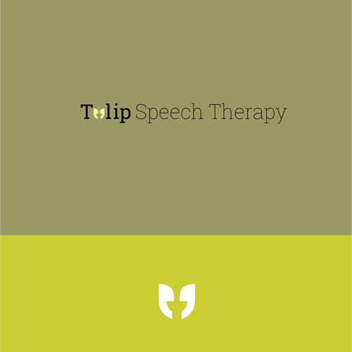 Create a tulip themed design for a private speech pathologist who works with children.