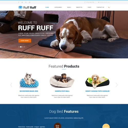 Homepage needed for Doggy Website