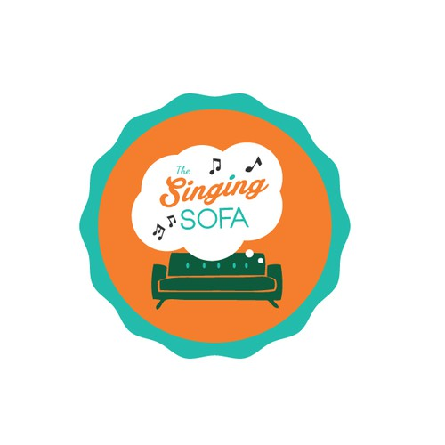 "Design a logo for ""The singing sofa"", a project that involves singing youngsters all over Europe"