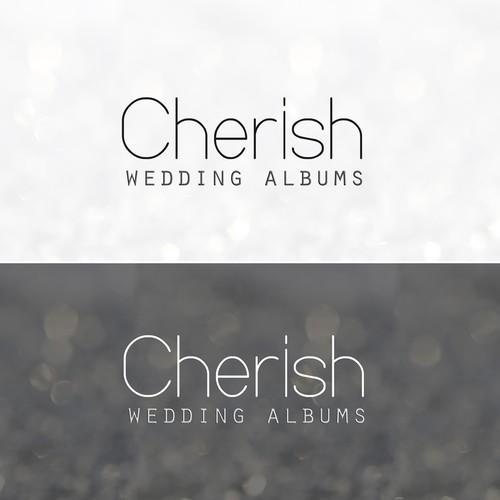 Create the next logo for Cherish Wedding Albums