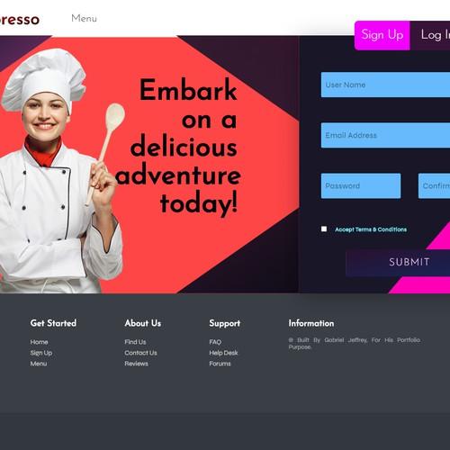 L'Espresso - An Online Fictional Restaurant Webapp