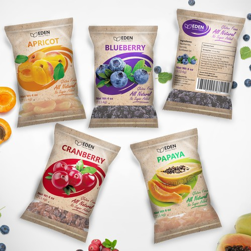 Package designing for Dried Fruit