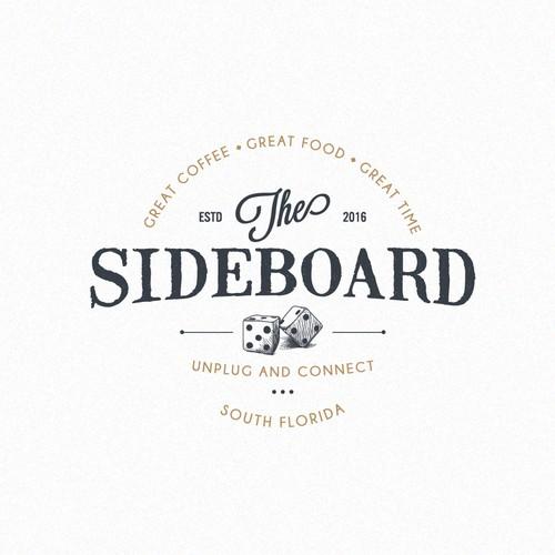 Logo concept for Sideboard - board game cafe