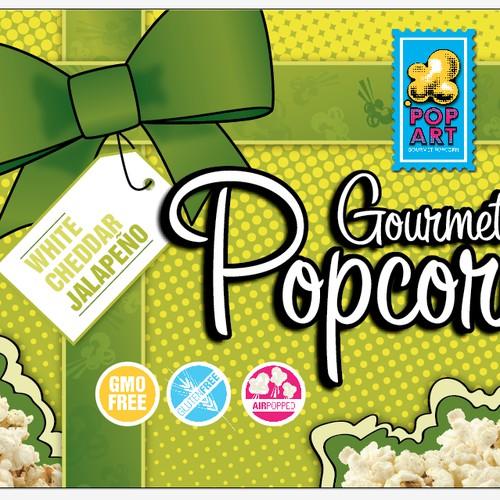 Pop Art Popcorn Gift Label