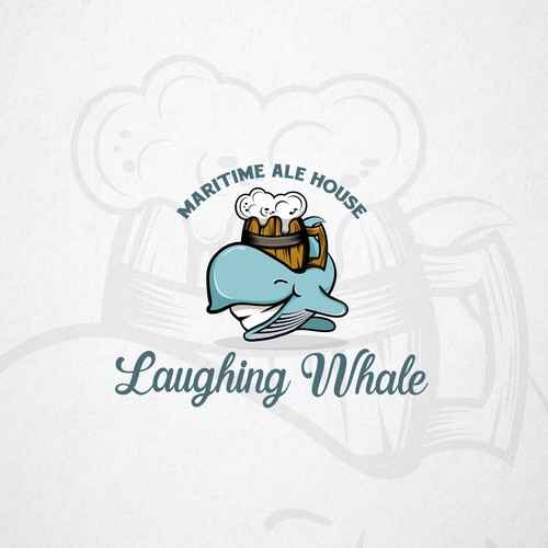 Laughing whale - Logo for the Pub