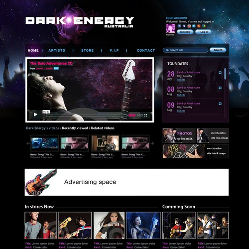 New website design wanted for Dark Energy Australia