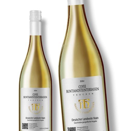 Wine Label for Cuvee Buntsandstein