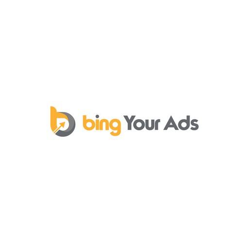 simple design logo Bing Your ads
