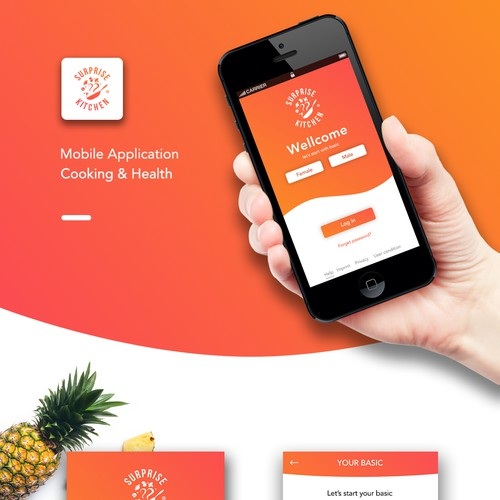 Design ui applicaton healthy food