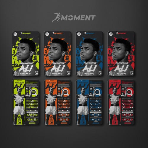 "Collectible Card Design for ""Moment Collectibles"""
