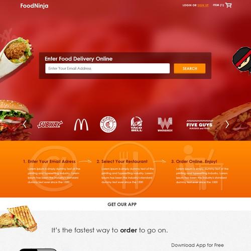 Food Ninja Website Design