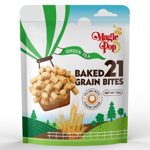 Baked Grain Snack Package