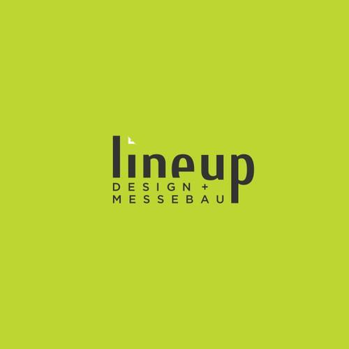 Lineup logo design Messebau