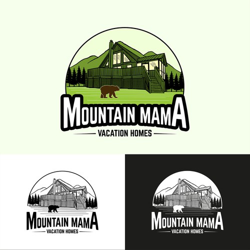 Logo Concept for Moutain Mama Vacation Homes