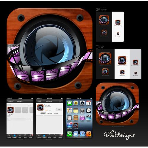 Custom app icon for iOS