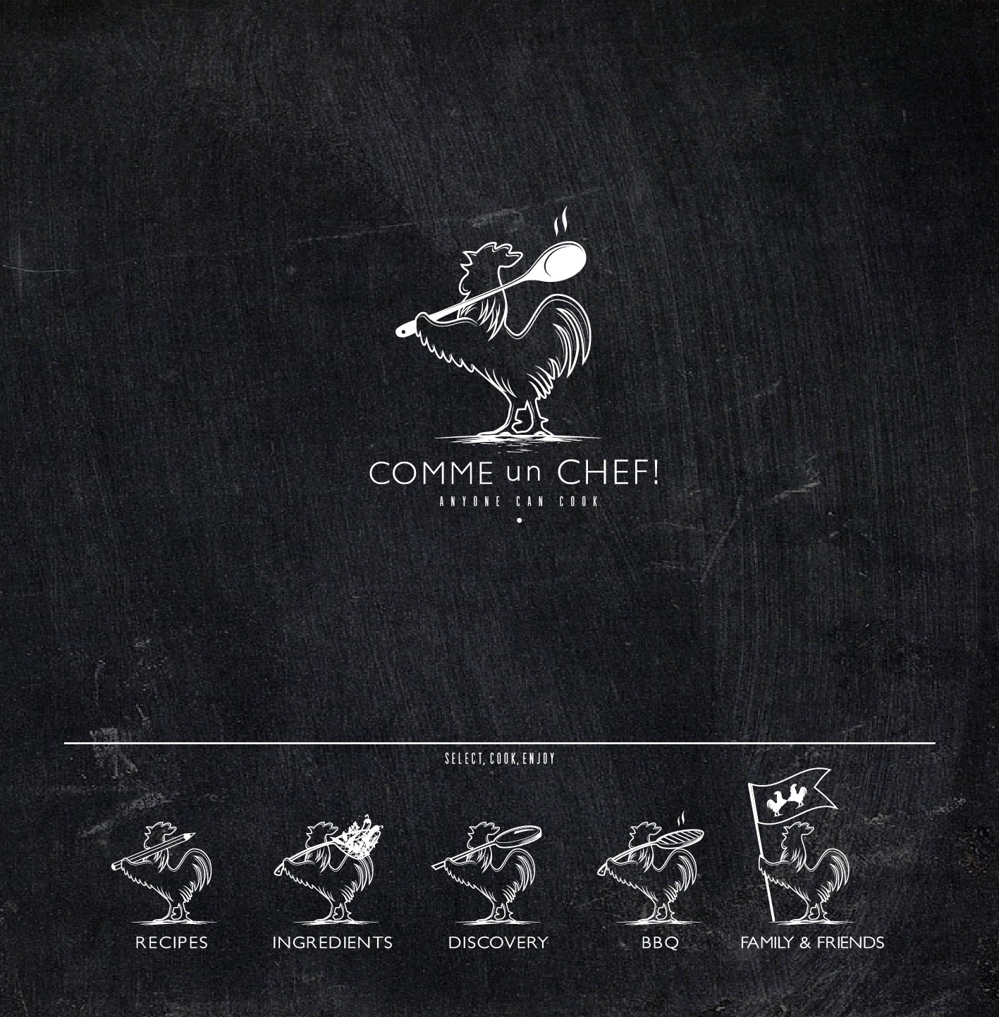 """Create the brand identity of """"Comme un Chef"""" revolutionary cooking concept"""