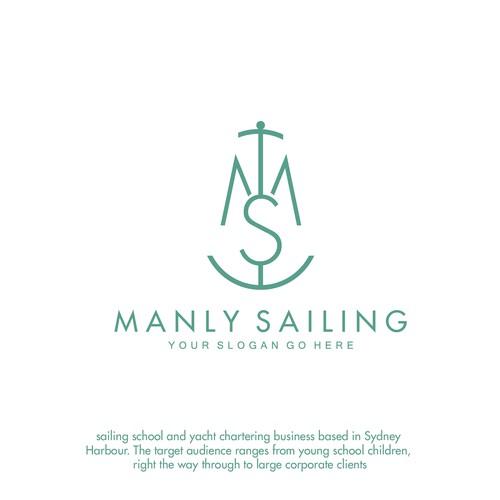 Logo concept for sailing logo