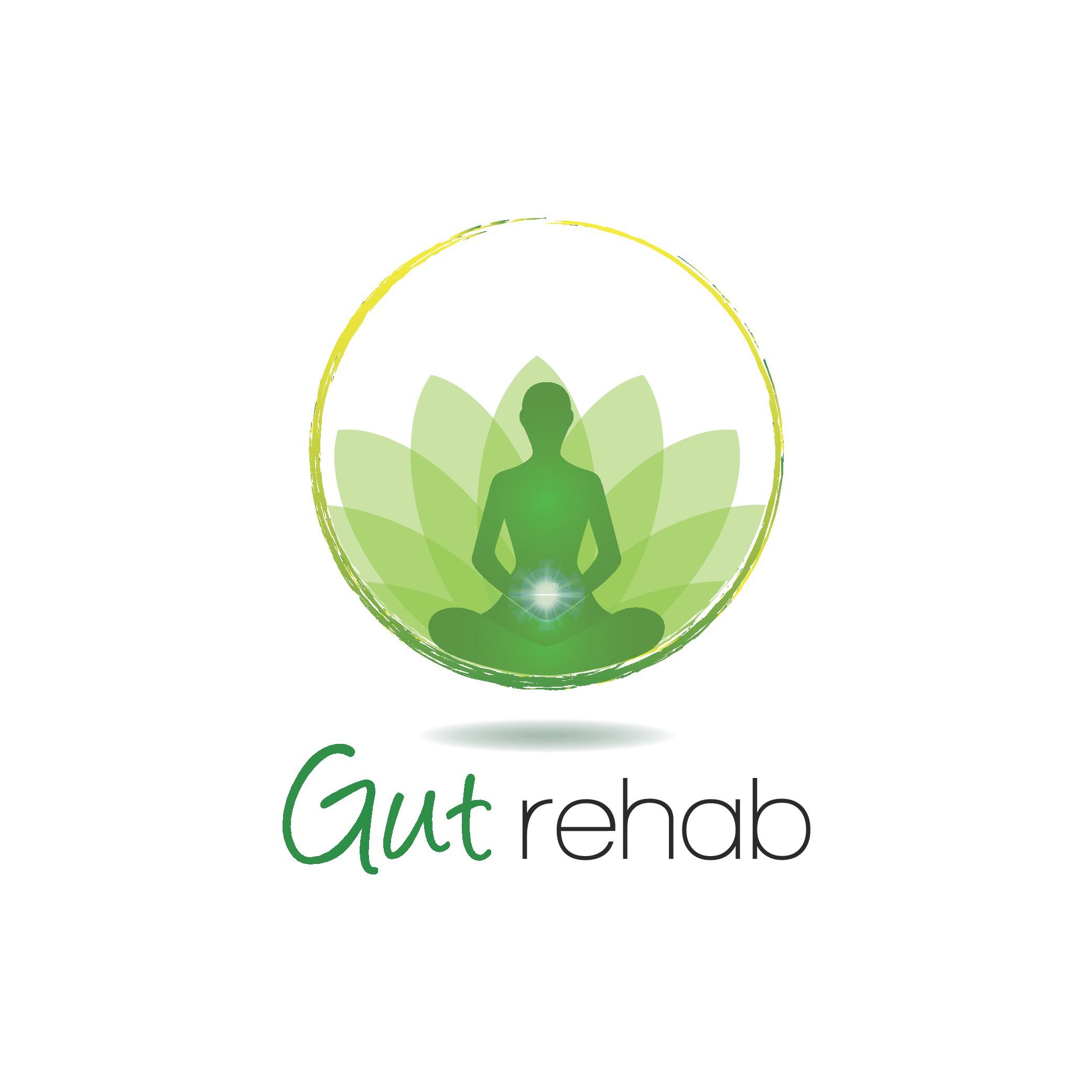 Create a uplifting logo for a gut health awakening healing program