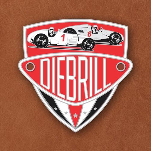 Vintage motor sport badge