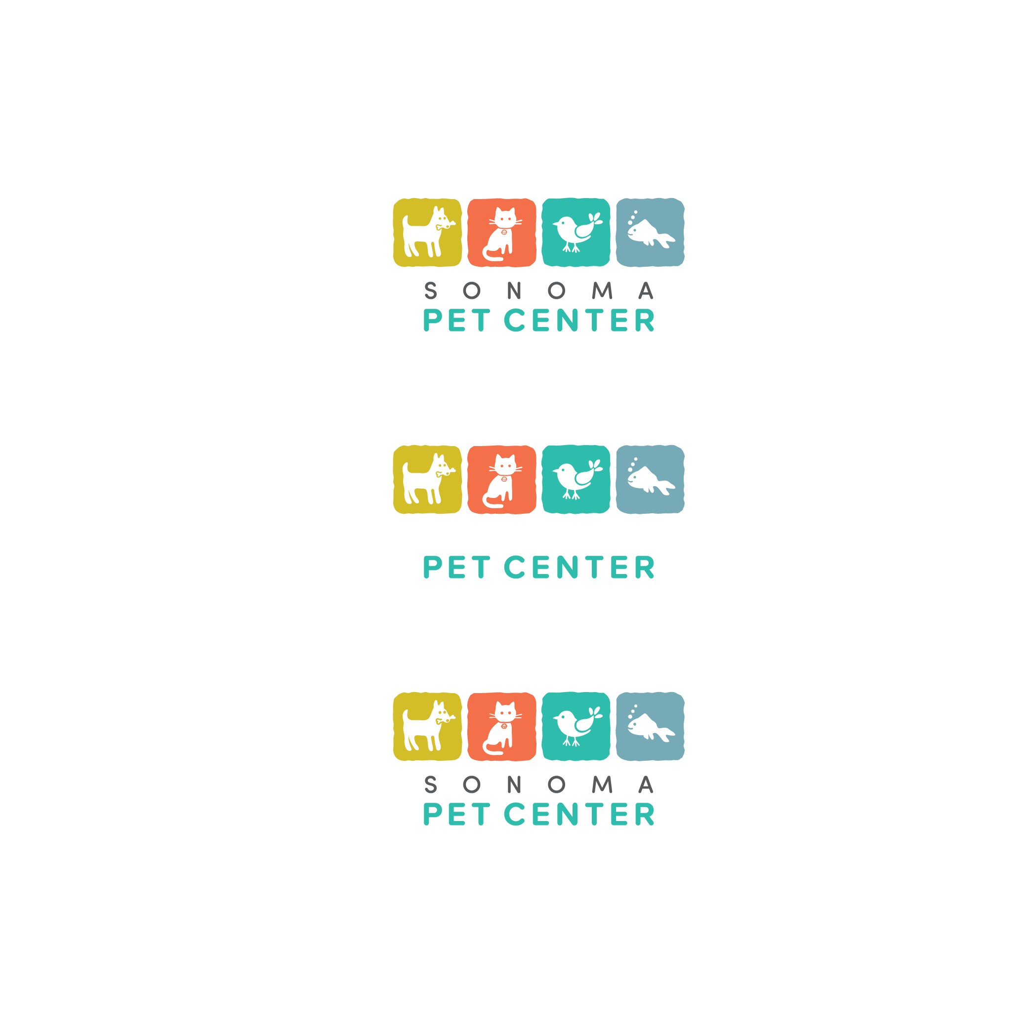 Design a clean and fresh logo for a local pet supply store