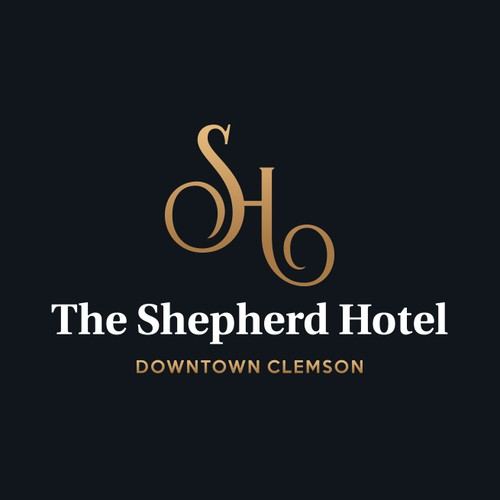 "Logo for ""The Shepherd hotel""."