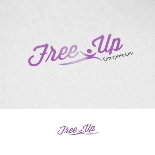 Simple and Modern Logo for Free-Up Enterprise Inc.