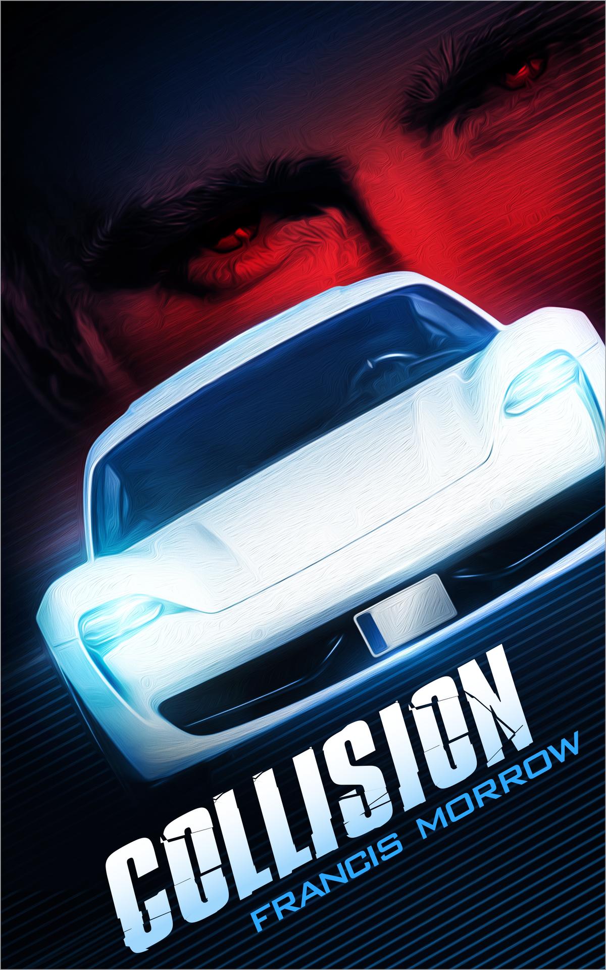 Cover design for near future sci-fi thriller