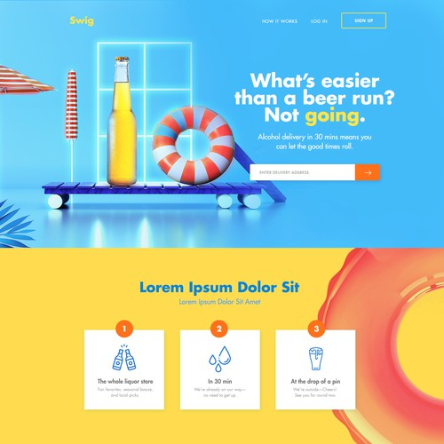 Fun and Colourful Delivery Website Design!!