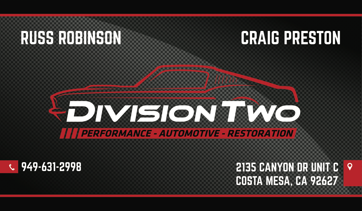 Division Two Business Card