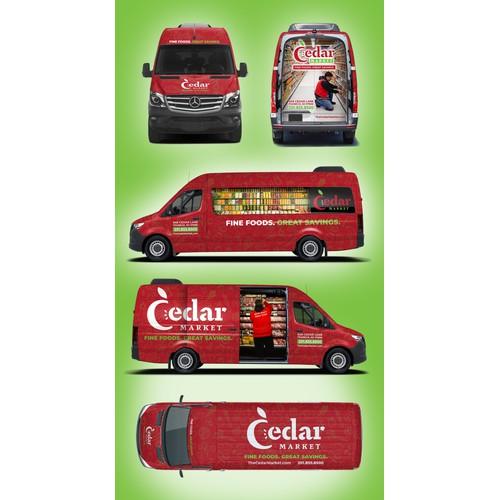 3D Van Wrap for Cedar Market