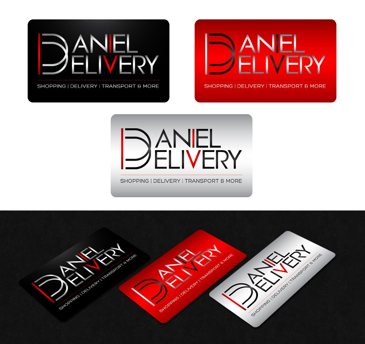 DANIEL DELIVERY needs LOGO and Business Card! Design Concept of LOGO provided!
