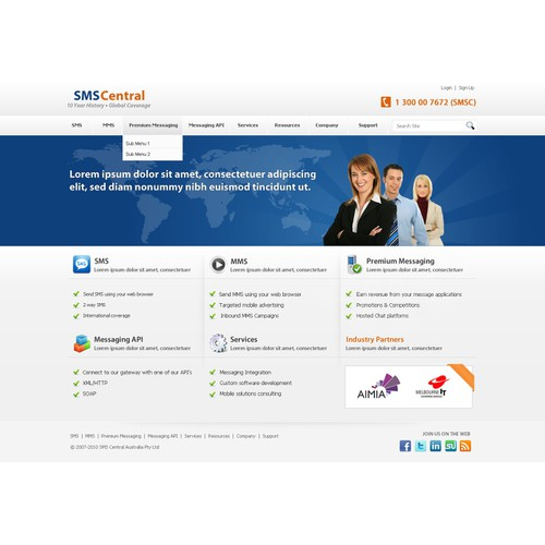 Corporate web site redesign
