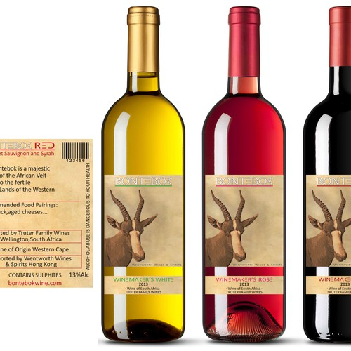 Create dynamic labels for a new South African wine brand in Asia!