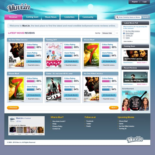 Unique Movie Review Website