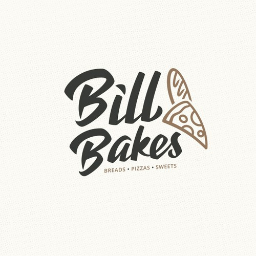 Pizza Baguette Logo design