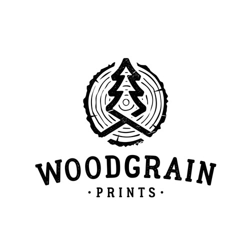 Logo Design for Woodgrain Prints